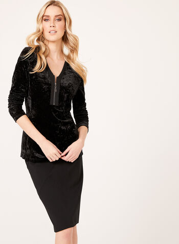 Crush Velvet Tunic, , hi-res