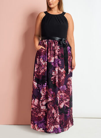 Cleo Neck Floral Print Maxi Dress, , hi-res