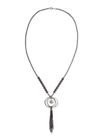 Tassel Pendant Chain Necklace, , hi-res