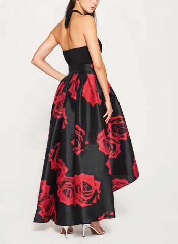 Rose Print Halter Neck Dress, , hi-res