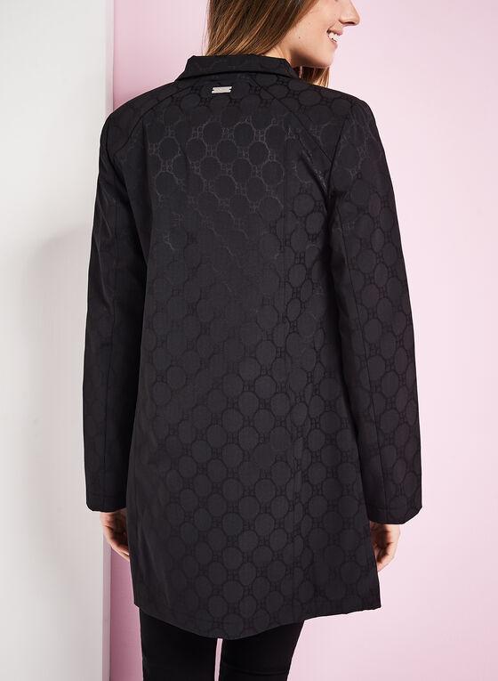 Novelti Jacquard A-Line Coat , Black, hi-res