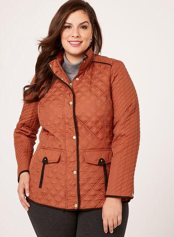 Weatherproof - Diamond Quilted Hooded Coat, , hi-res