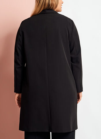 3/4 Sleeve Cascade Front Duster , , hi-res