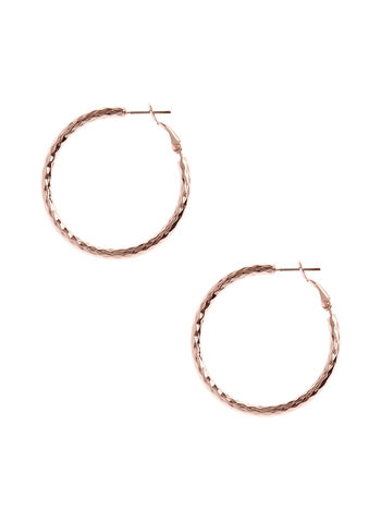 Textured Hoop Earrings, , hi-res
