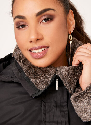 Weatherproof - Hooded Faux-Fur Trim Coat, , hi-res
