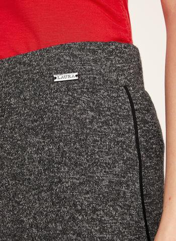 Wide Leg Melange Knit Pants, , hi-res