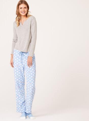 Pillow Talk - Snowman Pajama Set with Socks , , hi-res