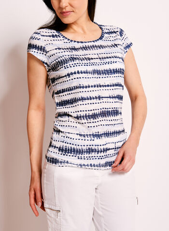 Embellished Tie Dye Print T-Shirt, , hi-res