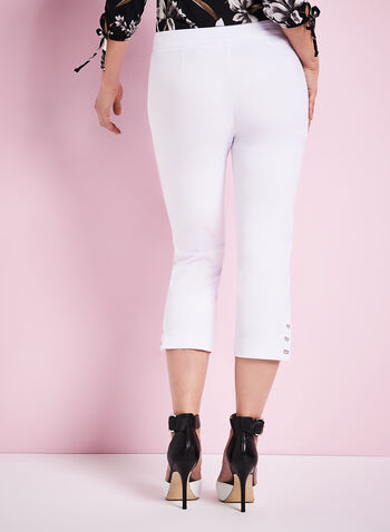 Modern Fit Capri Pants, White, hi-res