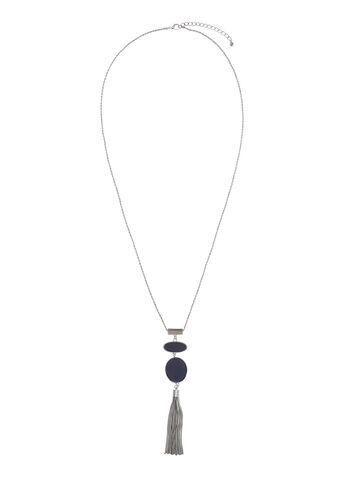 Two-Tone Tiered Tassel Necklace, , hi-res