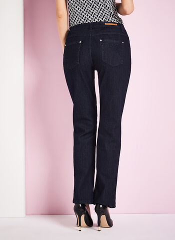 Simon Chang - Embroidered Straight Leg Jeans, , hi-res