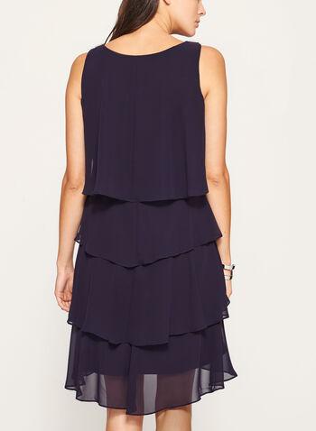 Sleeveless Tiered Chiffon Dress , , hi-res