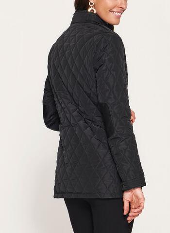 Diamond Quilted Double Zip Coat, , hi-res