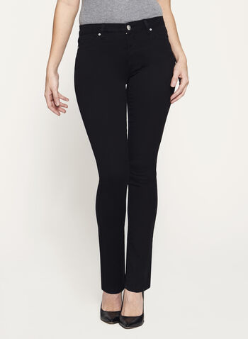 Mid-Rise Straight Leg Jeans, , hi-res