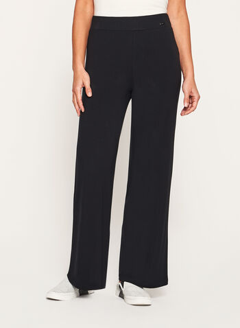 Pull-On Straight Leg Knit Pants, , hi-res
