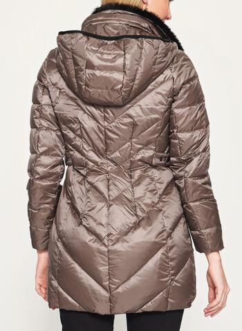 Manteau matelassé avec col en fausse fourrure, , hi-res