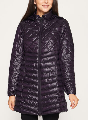 Lightweight Quilted Packable Coat, , hi-res