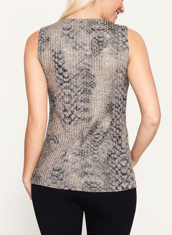 Vex - Abstract Print Sleeveless Top, , hi-res