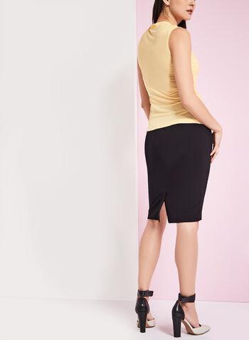 Back Slit Pencil Skirt , , hi-res