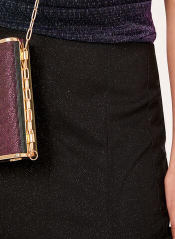 Glitter Mesh A-Line Skirt, , hi-res
