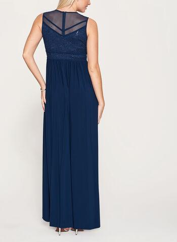 Sequin Lace Mesh Dress, , hi-res