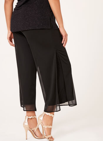 Wide Leg Pull-On Mesh Pants, , hi-res