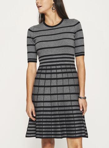 Fit & Flare Knit Dress, , hi-res