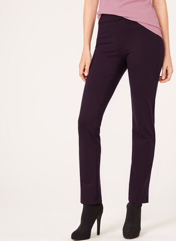 Pull-On Slim Leg Pants, Purple, hi-res