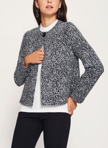 One-Button Ponte Jacket, , hi-res