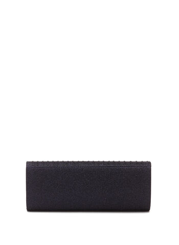 Glitter Wave Pleated Clutch, , hi-res