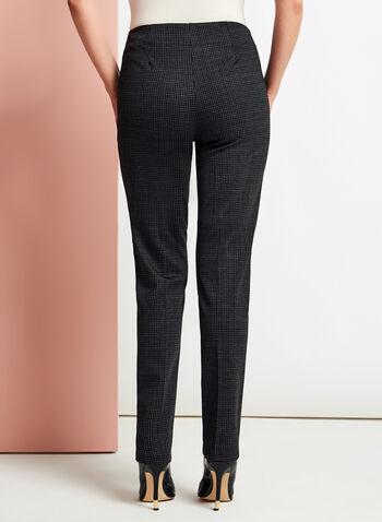 Pantalon coupe cité à jambe droite et carreaux, , hi-res