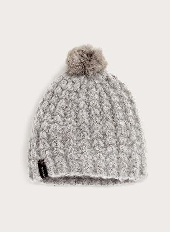 Fur Trim Knit Hat, , hi-res