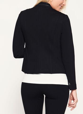 Vex - Zipper Trim Cropped Jacket, , hi-res