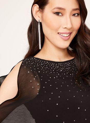 Crystal Embellished Chiffon Blouse, , hi-res
