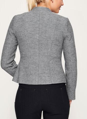 Boiled Wool Cropped Jacket, , hi-res