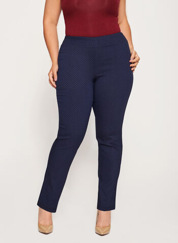 Pull-On Straight Leg Pants, , hi-res