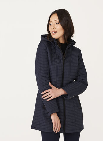 Weatherproof - Hooded Quilted Coat, , hi-res