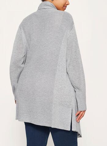 Long cardigan ouvert en tricot, , hi-res