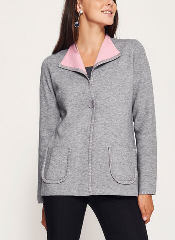 Double Knit Cardigan , , hi-res