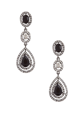Crystal Encrusted Chandelier Earrings, , hi-res