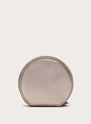 Metallic Flower Detail Coin Purse, , hi-res