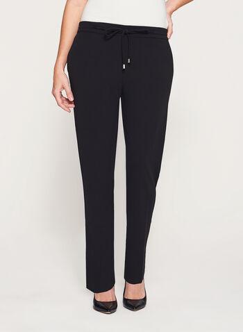 Pantalon à jambe droite avec lien à nouer, , hi-res