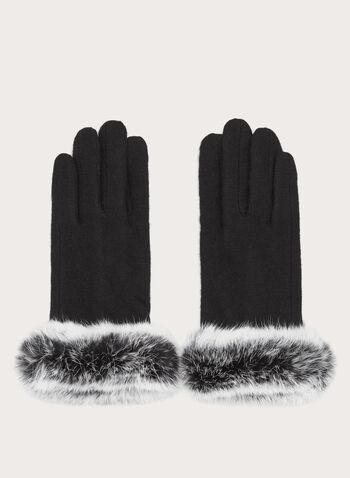 Rabbit Fur Wool Gloves, , hi-res