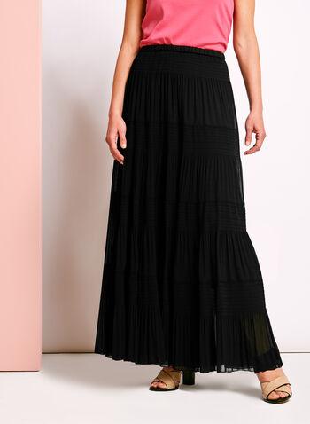Tiered Maxi Peasant Skirt , , hi-res