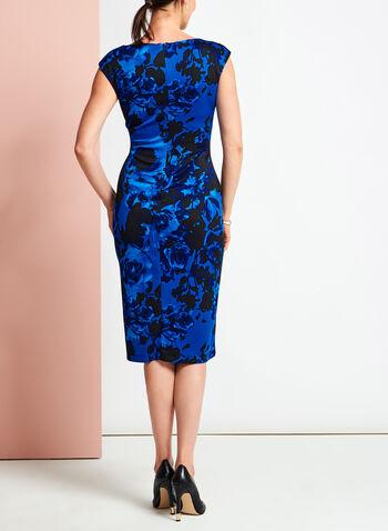 Floral Print Scuba Midi Dress, , hi-res