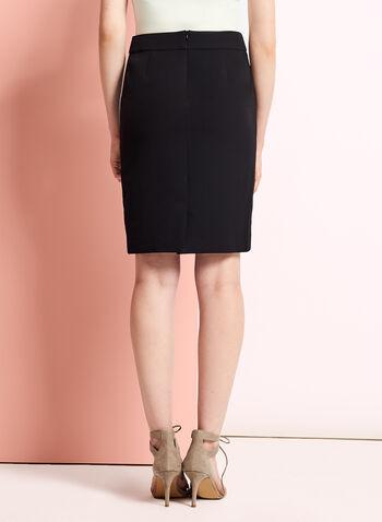 Back Slit Pencil Skirt, , hi-res