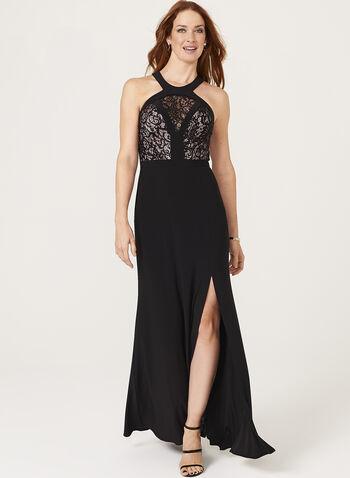Sequin Lace Cleo Neck Dress, , hi-res