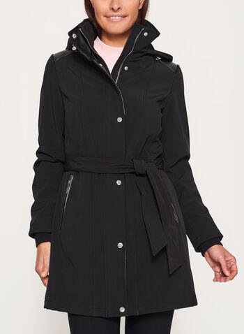 Belted Softshell Coat, , hi-res