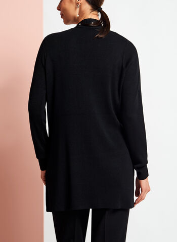 Long Sleeve Studded Edge Cardigan, , hi-res