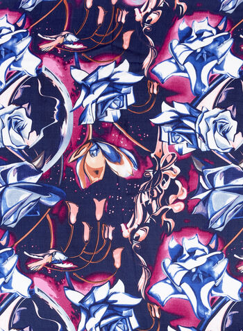 Rose Print Scarf, , hi-res